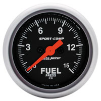 "Click for a larger picture of Sport Comp 2"" Electric Fuel Pressure, 15 psi, Full Sweep"