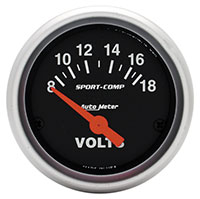"Click for a larger picture of Sport Comp 2"" Voltmeter, Electric"