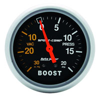 Click for a larger picture of Sport Comp 2 5/8 inch Boost Gauge