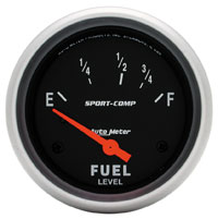 Click for a larger picture of Sport-Comp 2 5/8 Inch Fuel Level Gauge, 240-33 Ohm