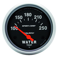 Click for a larger picture of Sport Comp 2 5/8 inch Water Temp Gauge, 100-250 F, Electric