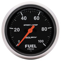 Click for a larger picture of Sport-Comp 2-5/8 Electric Fuel Pressure, 100 psi, Full Sweep