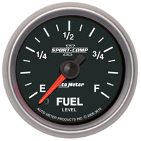 "Click for a larger picture of Sport Comp II 2 1/16"" Stepper Fuel Level Gauge, Programmable"
