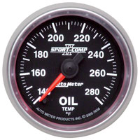 """Click for a larger picture of Sport Comp II 2 1/16"""" Oil Temp Gauge, 140-280 F, Electric"""