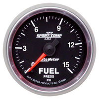 "Click for a larger picture of Sport Comp II 2 1/16"" Fuel Pressure Gauge, 15psi, Electric"