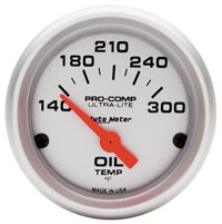 "Click for a larger picture of Ultra Lite 2"" Oil Temperature Gauge, 140-300 F, Electric"