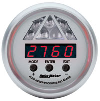 Click for a larger picture of Auto Meter Ultra-Lite Digital Pro Shift Light Gauge, Level 1