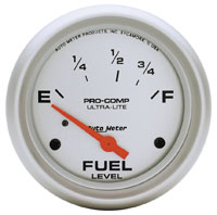 "Click for a larger picture of Ultra Lite 2 5/8"" Fuel Level Gauge, 73-10 Ohm"