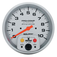"Click for a larger picture of Ultra Lite 5"" Electric Tach, 10K In-Dash with Telltale"