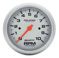 "Click for a larger picture of Ultra Lite 3 3/4"" Electric Tach, 10K In-Dash"