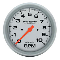 "Click for a larger picture of Ultra Lite 5"" Electric Tach, 10K In-Dash"