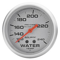 "Click for a larger picture of Ultra-Lite 2-5/8"" Liquid Filled Water Temp, 120-240F, 6 ft"