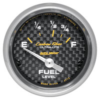 "Click for a larger picture of Auto Meter Carbon Fiber 2"" Fuel Level Gauge, 73 - 10 Ohm"