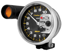 "Click for a larger picture of Auto Meter Carbon Fiber 5"" Tachometer w/Shift Light, 10K RPM"