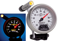"Click for a larger picture of Ultra Lite II 3-3/4"" Mini-Monster Tach, 10k w/ Shift Light"