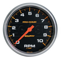 Click for a larger picture of Pro Comp 5 inch Electric Tachometer, 10K in-Dash