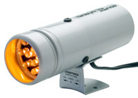 Click for a larger picture of Auto Meter Super-Lite Shift Light, Silver