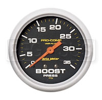 Click for a larger picture of Pro Comp 2 5/8 inch Liquid Filled Boost Gauge 0-35 psi