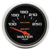 Click for a larger picture of Pro Comp 2 5/8 Water Temp Gauge, 100-250 F, Electric