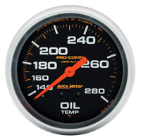 Click for a larger picture of Pro Comp 2 5/8 Liquid Filled Oil Temp Gauge:140-280F 6ft