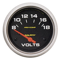Click for a larger picture of Pro Comp 2 5/8 inch  Voltmeter (not liquid filled)