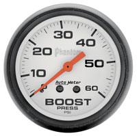 "Click for a larger picture of Auto Meter 2"" Phantom Boost Gauge, 0-60psi"