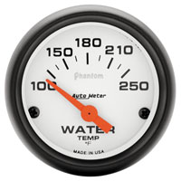 "Click for a larger picture of Auto Meter 2"" Phantom Water Temp Gauge, 100-250F Electric"