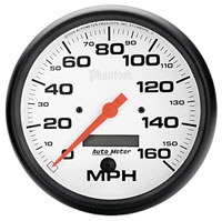 "Click for a larger picture of Auto Meter 5"" Phantom Speedometer, 160 mph, Programmable"