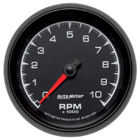 "Click for a larger picture of Auto Meter ES Series 3-3/8"" In-Dash Tach, 10k RPM"