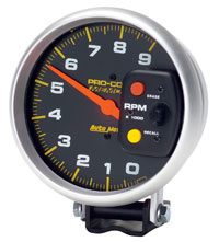 Click for a larger picture of Pro Comp 5 inch Electric Tach, 9000 RPM with Telltale