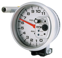 "Click for a larger picture of Ultra Lite 5"" Electric Tach, 11K w/ Shift Light & Memory"