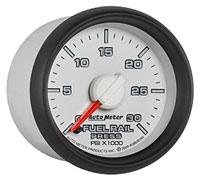 Click for a larger picture of Auto Meter Dodge Diesel Fuel Rail Pressure Gauge, 30 psi