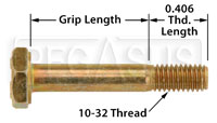 Click for a larger picture of AN3 Airframe Bolt, 10-32 Thread