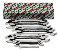 Click for a larger picture of Beta 55MP/S13, 13 Piece Chrome Open End Wrench Set, Metric