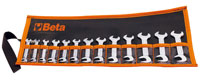 Click for a larger picture of Beta 73/B13, 13 Pc Small Open End Wrench Set with Wallet, mm