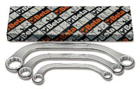 Click for a larger picture of Beta Tool 83AS/S3, 3 Piece Half Moon Box End Wrench Set, SAE