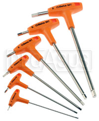 Click for a larger picture of Beta 96T/S6, 6 Piece T-Handle Hex Key Wrench Set, Metric