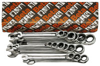 Click for a larger picture of 142/S15, 15 Pc Reversible Ratchet Combo Wrench Set, Metric