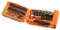 "Click for a larger picture of Beta 900/C39 Mini Handle/Bit/Socket Set w/Case, 1/4"" Dr, MM"