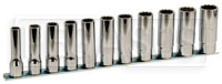 "Click for a larger picture of 920BL/SB11 11-Pc Socket Set, 1/2"" Drive, 12-Pt Deep Metric"
