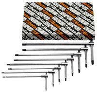 Click for a larger picture of Beta 951/S8 8-Pc Sliding T-Handle Hex Key Wrench Set, Metric