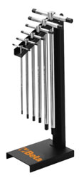 Click for a larger picture of 951/SP6 Set of 6 Sliding T-Handle Hex Wrenches w/Stand, mm