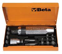 Click for a larger picture of Beta Tools 1295/C14 Impact Screwdriver with 14 Inserts