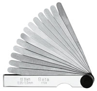 Click for a larger picture of Beta Tools 1708/20 Feeler Gauge, 20 Blade