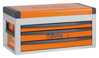 Click for a larger picture of Beta Tools C22S Three-Drawer Portable Tool Chest, Orange