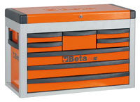 Click for a larger picture of Beta Tools C23SC-O Eight-Drawer Portable Tool Chest, Orange