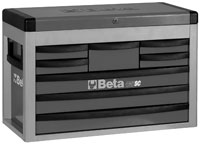 Click for a larger picture of Beta Tools C23SC-G Eight-Drawer Portable Tool Chest, Grey