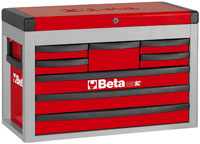 Click for a larger picture of Beta Tools C23SC-R Eight-Drawer Portable Tool Chest, Red
