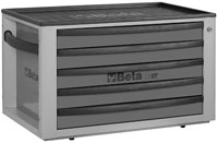 Click for a larger picture of Beta Tools C23ST-G Five-Drawer Portable Tool Chest, Grey