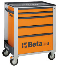 Click for a larger picture of Beta C24S/5-O Roller Tool Cabinet, Orange - Ships Truck